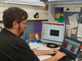 prof. sima lev lab member at work