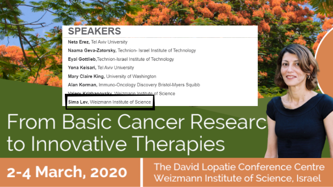 Sima Lev - cancer conference speakers list